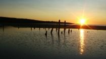 sunrise + poles